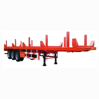 New Design 3 Axle Flatbed Semi Trailer