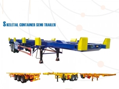 New Design Hot Sale Skeleton Semi Trailer for 20ft 40ft, Container Transprot Truck Trailer